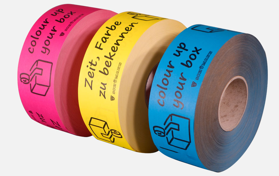 Packaging tapes with prints